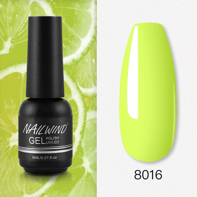 Color 8058 NAILWIND Nail Gel Polish UV LED Lamp Gel Varnishes painting hybrid Manicute Set for nail art Need base top coat gel polish