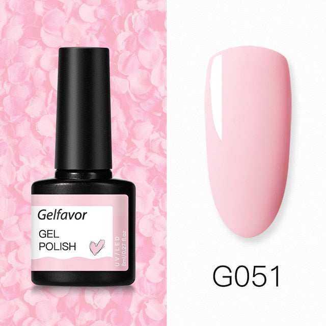Color29 Gelfavor 8ml Gel Nail Polish Glitter For Manicure set nail art Semi platium UV LED Lamp Nail varnishes Base top coat Gel lacquer