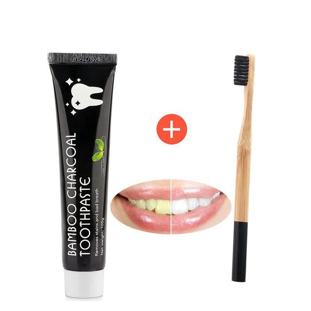 Natural Teeth Whitening Powder Smoke Coffee Tea Stain Remover Oral Hygiene Dental Care Bamboo Activated Charcoal Dropshipping