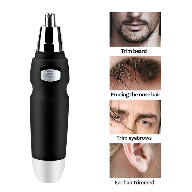 Orange Electric Shaving Nose Ear Trimmer Safety Face Care Nose Hair Trimmer for Men Shaving Hair Removal Razor Beard Cleaning Machine
