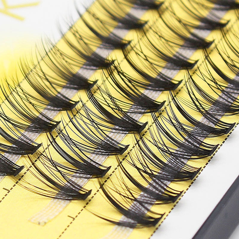 0.07mm Kimcci 60 Bundles Mink Eyelash Extension Natural 3D Russian Volume Faux Eyelashes Individual 20D Cluster Lashes Makeup Cilia