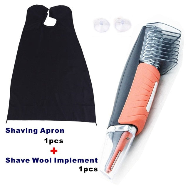 190 1pc B-Apron 1pc Micro Precision Eyebrow Ear Nose Trimmer Removal Clipper Shaver Unisex Personal Electric Face Care Hair Trimer With LED Light