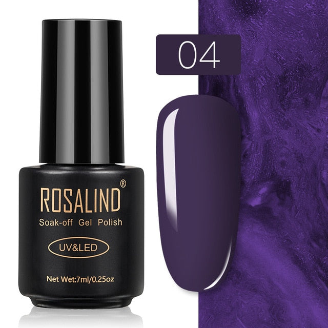 30 ROSALIND Gel Nail Polish Nail Art Vernis Semi Permanant UV Primer Manicure 7ML Top Coat Primer Gel Lak Hybrid Nail Polishes