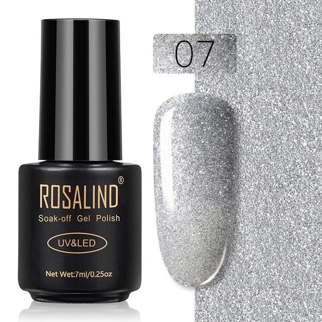 31 ROSALIND Gel Nail Polish Nail Art Vernis Semi Permanant UV Primer Manicure 7ML Top Coat Primer Gel Lak Hybrid Nail Polishes