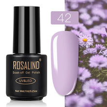 63 ROSALIND Gel Nail Polish Nail Art Vernis Semi Permanant UV Primer Manicure 7ML Top Coat Primer Gel Lak Hybrid Nail Polishes