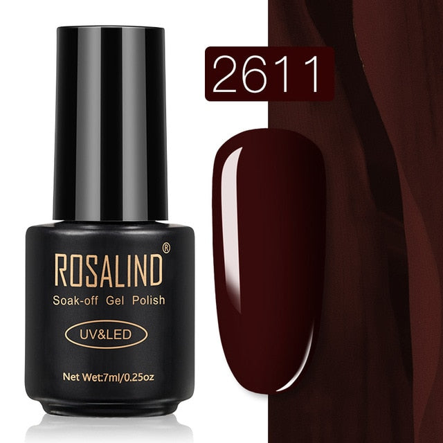56 ROSALIND Gel Nail Polish Nail Art Vernis Semi Permanant UV Primer Manicure 7ML Top Coat Primer Gel Lak Hybrid Nail Polishes
