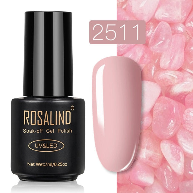 17 ROSALIND Gel Nail Polish Nail Art Vernis Semi Permanant UV Primer Manicure 7ML Top Coat Primer Gel Lak Hybrid Nail Polishes