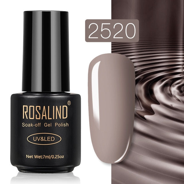 13 ROSALIND Gel Nail Polish Nail Art Vernis Semi Permanant UV Primer Manicure 7ML Top Coat Primer Gel Lak Hybrid Nail Polishes