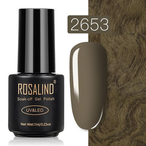 4 ROSALIND Gel Nail Polish Nail Art Vernis Semi Permanant UV Primer Manicure 7ML Top Coat Primer Gel Lak Hybrid Nail Polishes