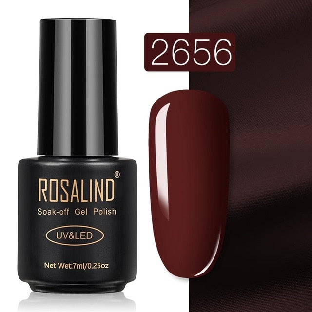 8 ROSALIND Gel Nail Polish Nail Art Vernis Semi Permanant UV Primer Manicure 7ML Top Coat Primer Gel Lak Hybrid Nail Polishes