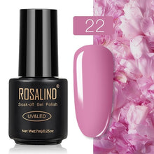 22 ROSALIND Gel Nail Polish Nail Art Vernis Semi Permanant UV Primer Manicure 7ML Top Coat Primer Gel Lak Hybrid Nail Polishes
