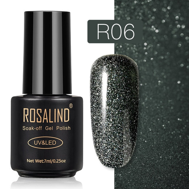 60 ROSALIND Gel Nail Polish Nail Art Vernis Semi Permanant UV Primer Manicure 7ML Top Coat Primer Gel Lak Hybrid Nail Polishes