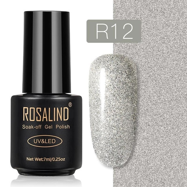 42 ROSALIND Gel Nail Polish Nail Art Vernis Semi Permanant UV Primer Manicure 7ML Top Coat Primer Gel Lak Hybrid Nail Polishes