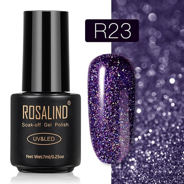 57 ROSALIND Gel Nail Polish Nail Art Vernis Semi Permanant UV Primer Manicure 7ML Top Coat Primer Gel Lak Hybrid Nail Polishes