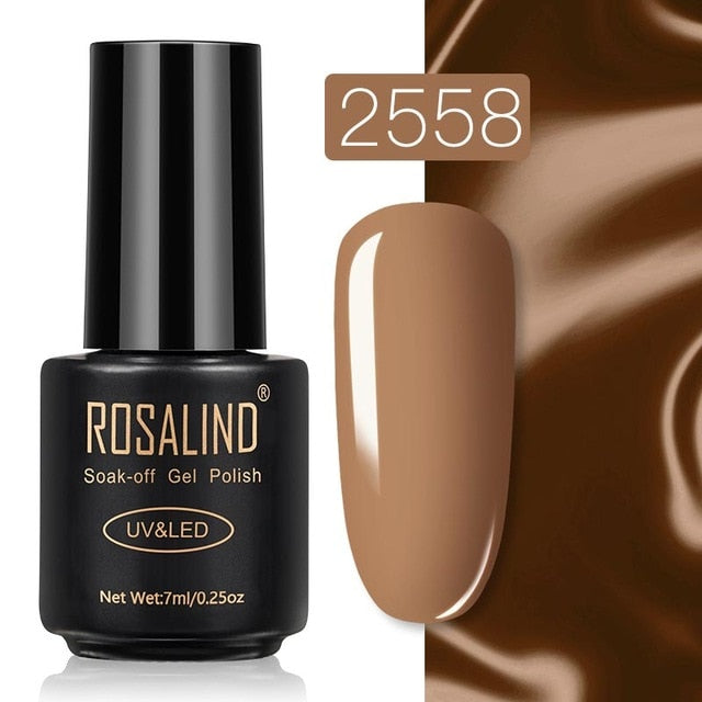 9 ROSALIND Gel Nail Polish Nail Art Vernis Semi Permanant UV Primer Manicure 7ML Top Coat Primer Gel Lak Hybrid Nail Polishes