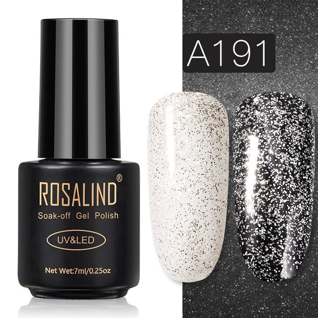 46 ROSALIND Gel Nail Polish Nail Art Vernis Semi Permanant UV Primer Manicure 7ML Top Coat Primer Gel Lak Hybrid Nail Polishes