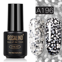 19 ROSALIND Gel Nail Polish Nail Art Vernis Semi Permanant UV Primer Manicure 7ML Top Coat Primer Gel Lak Hybrid Nail Polishes