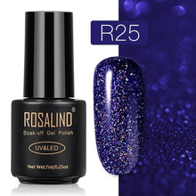 32 ROSALIND Gel Nail Polish Nail Art Vernis Semi Permanant UV Primer Manicure 7ML Top Coat Primer Gel Lak Hybrid Nail Polishes