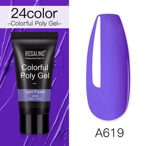 opal Color ROSALIND Polygel For Nails Extensions Finger nail art Manicure Acryl gel Varnish hybrid 30ML Poly gel nail polish