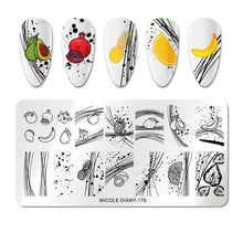 2pcs scraper NICOLE DIARY Lace Flower Animal Nail Stamping Plates Marble Image Stamp Templates Geometric Printing Stencil Tools