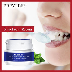 BREYLEE Teeth Whitening Powder Toothpaste Dental Tools White Teeth Cleaning Oral Hygiene Toothbrush Gel Remove Plaque Stains 30g