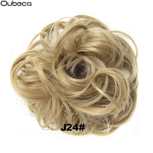 Color#1B  Oubeca Synthetic Flexible Hair Buns Curly Scrunchy Chignon Elastic Messy Wavy Scrunchies Wrap For Ponytail Extensions For Women