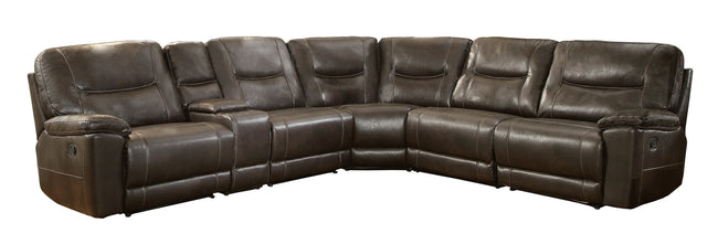 Bruno Reclining Sectional (No Chaise)