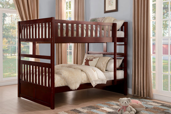 Haley Full/Full Bunk Bed - Cherry