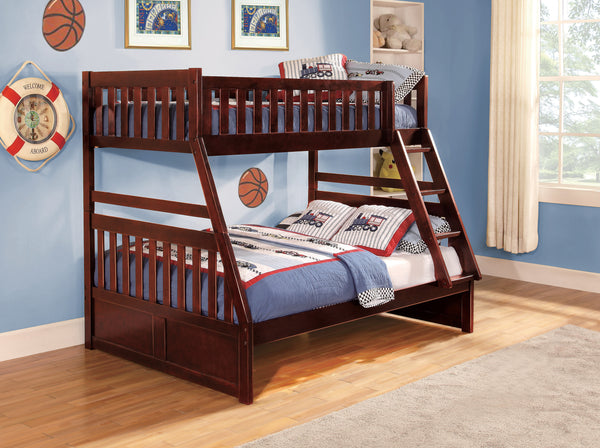 Haley Twin/Full Bunk Bed - Cherry