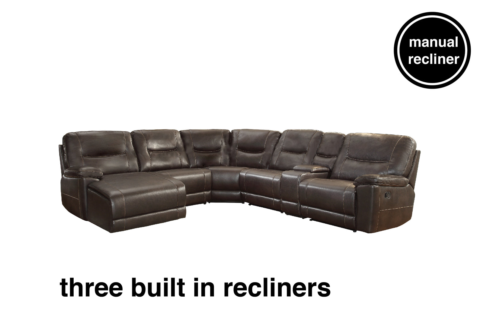 Lex Reclining Sectional With Chaise