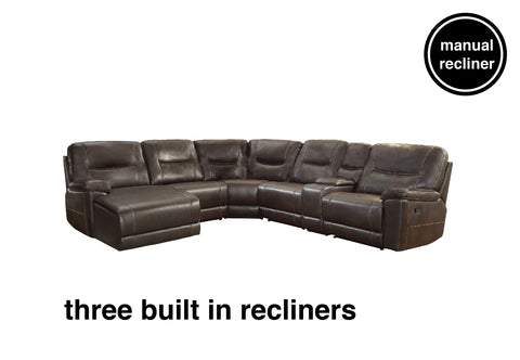 Lex Reclining Sectional With Chaise Furniture Discounters