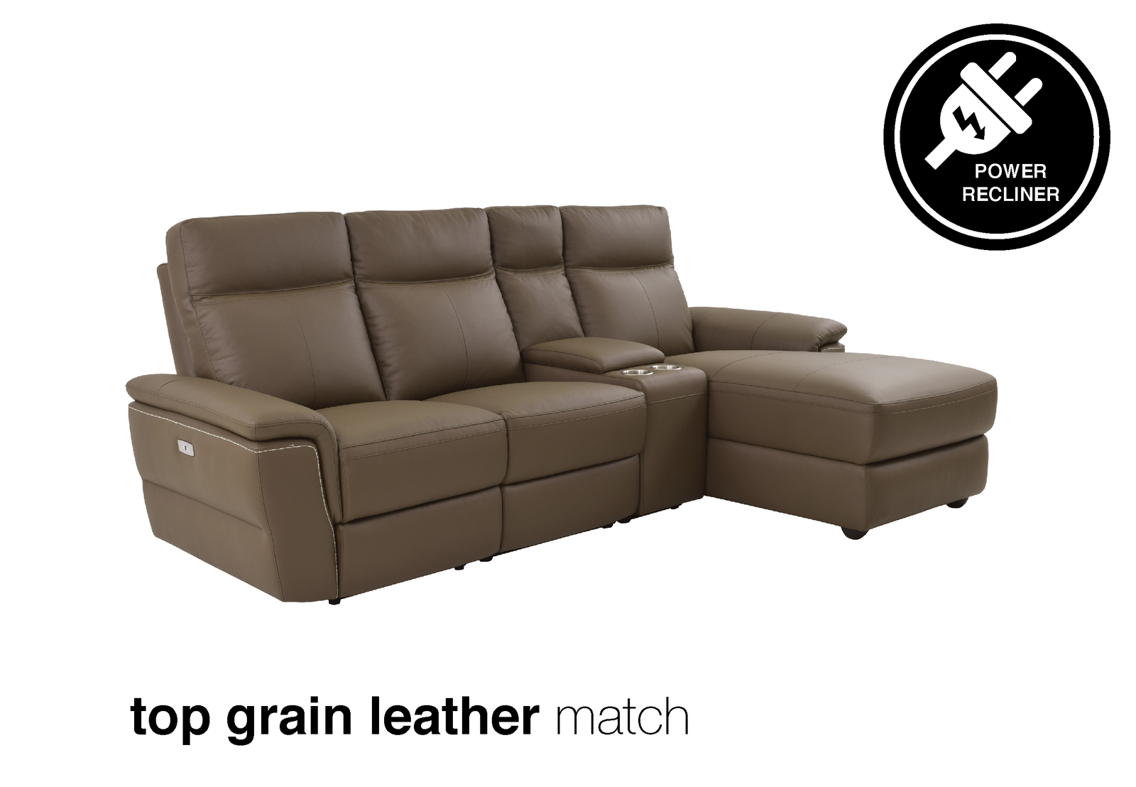 Java 4PC Leather Power Recliner