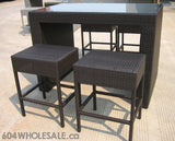 The Sachilotto - Bar Table with 4 barstools