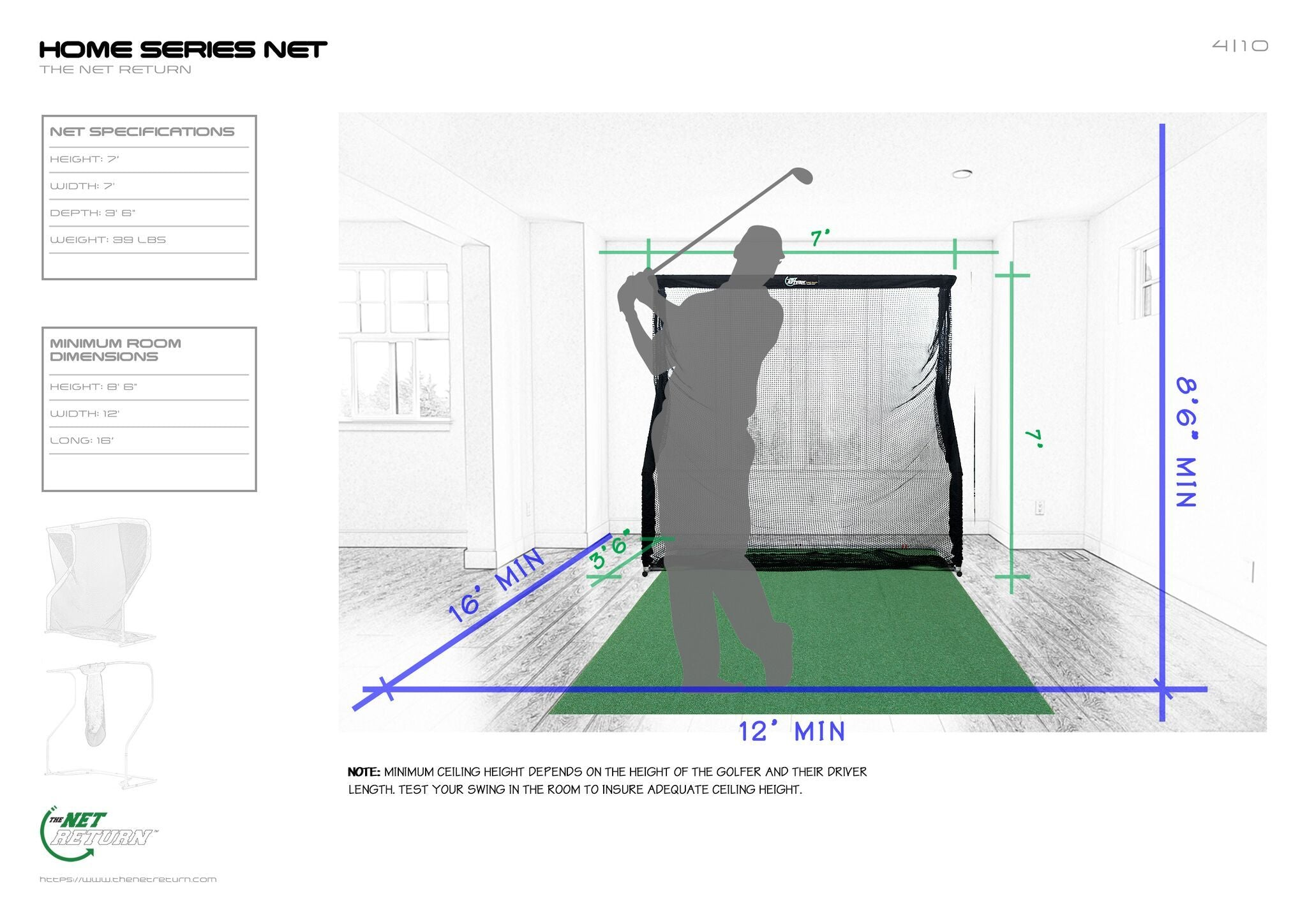 Home Series V2 Golf and Multi-Sport Net