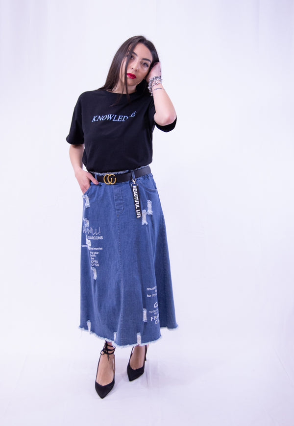 Gonna Midi Denim