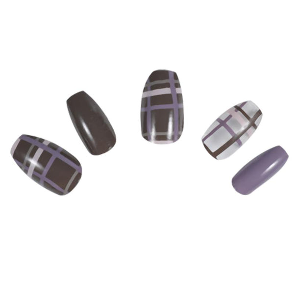 N058 Brown Purple Plaid