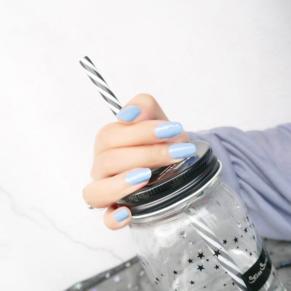 CN086 Solid Spindle Blue Nail Strips