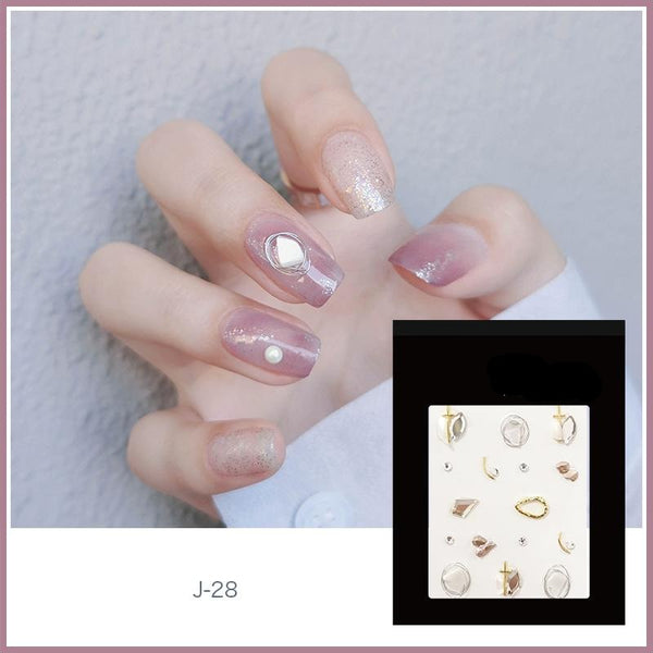 J28 Sparkle Cross Nail Decals