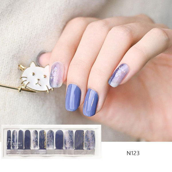 N123 Shading Blonzing Gold Blue Violet Nail Strips