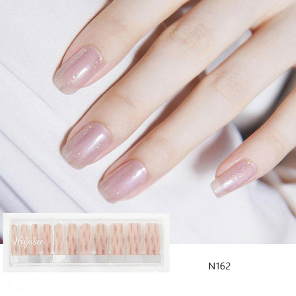 N162 Shading Old Rose Pink Bronzing Gold Nail Strips