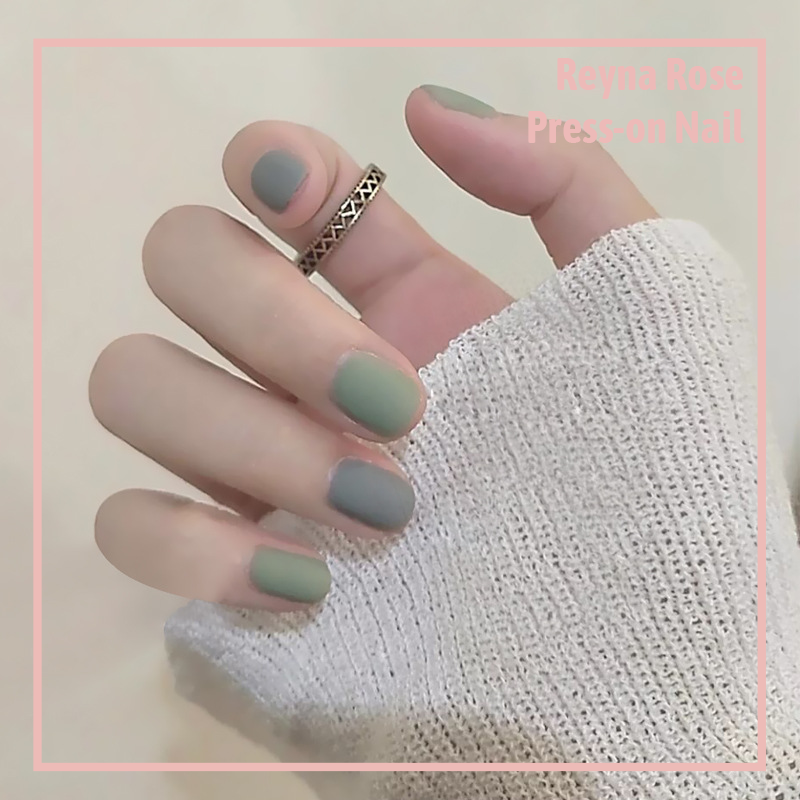 Short Square-Matte Green and Gray