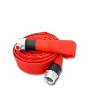 Fire Hose Red Polyester/Rubber for Industrial Firefighting