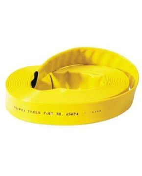 Yellow PVC Lay Flat Hose 6 Bar