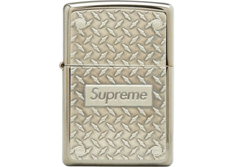 Supreme Diamond Plate Zippo Lighter