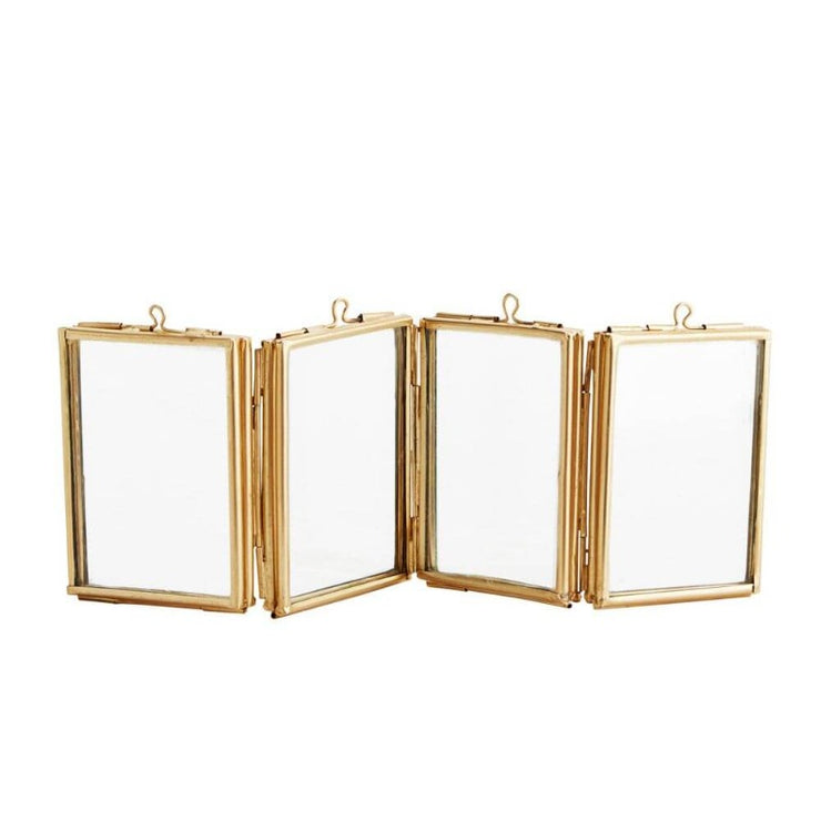 MADAM STOLTZ - Multiple photo frames - Golden brass