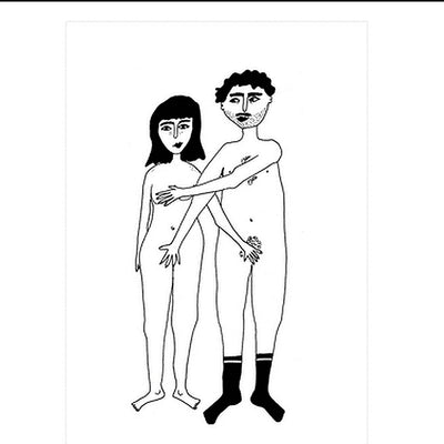 """Naked couple"" poster - A4"