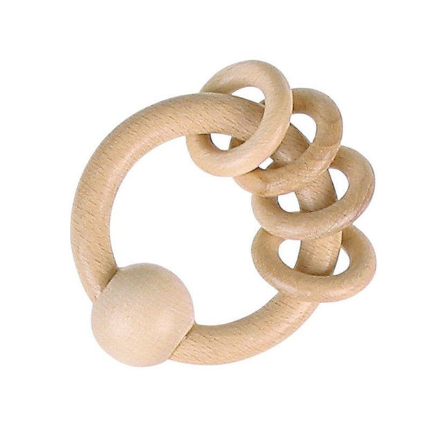 Wooden Rattle Ring - Natural