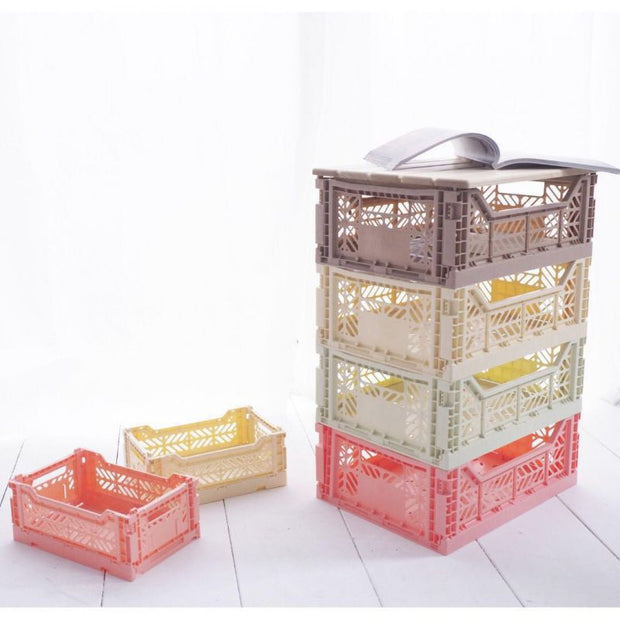 Large storage box - banana - foldable and colourful - recycled material
