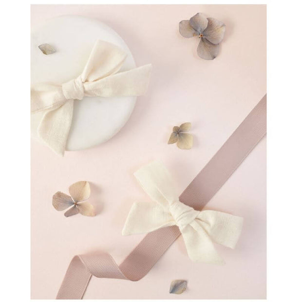 Bow hairclip - Ecru