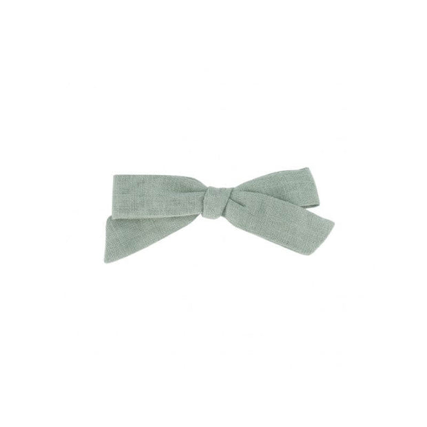 Bow hairclip - Greyish green